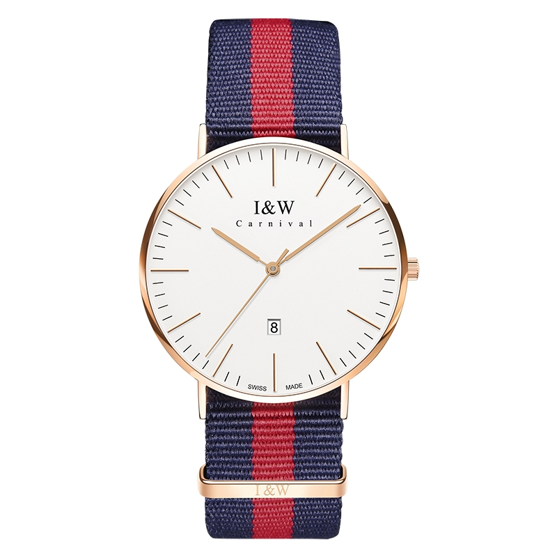 I&W Fashion Quartz Watch (Nylon, Three Hands)